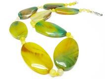 agata koralików zielony kolor żółty Obrazy Stock