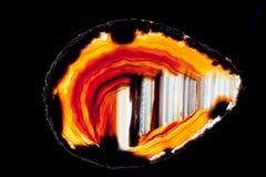 Agata kwarcowego sylikatowego klejnotu półprzezroczysty plasterek Zdjęcie Stock