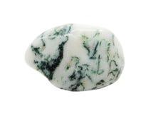 Agata muschiata con il cristallo geologico del chalcedony Fotografia Stock Libera da Diritti