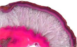Agata rosa del quarzo Fotografia Stock