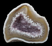 Agate with Amethyst Royalty Free Stock Image