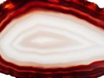 Agate avec le cristal géologique de chalcedony Photographie stock