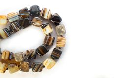 Agate beads isolated on white background Stock Image