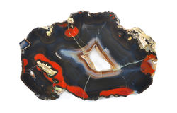 Agate with beautiful shapes Royalty Free Stock Photography