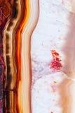 Agate brune naturelle Images libres de droits