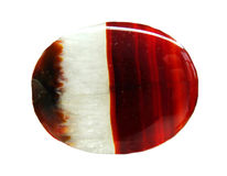 Agate with chalcedony geological crystal Royalty Free Stock Image