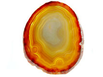 Agate with chalcedony geological crystal Royalty Free Stock Photo
