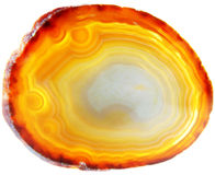 Agate with chalcedony geological crystal Stock Photo
