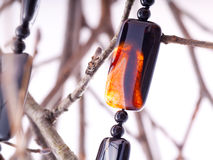 Agate collar stock photo