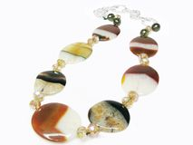 Agate colored beads Stock Images