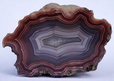 Agate crystal from Mexico Royalty Free Stock Images