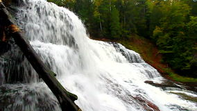 Agate Falls Michigan. Spectacular view of Agate Falls in the Upper Peninsula of Michigan stock video footage