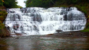 Agate Falls Northwoods Michigan. Spectacular view of Agate Falls in the Upper Peninsula of Michigan stock video footage