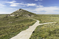 Agate Fossil Beds National Monument. Is located on the North Western Panhandle of Nebraska. Paved trail leading to University Hill fossil site Stock Photography