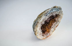 Agate geode. With crystal structure Stock Photography