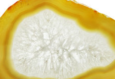 Agate geode geological crystals Stock Image