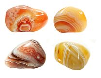 Agate geode geological crystals Stock Images