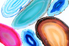 Agate mineral collection Stock Photo
