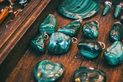 Agate minerals pendants. Agate minerals to make pendants Royalty Free Stock Photo