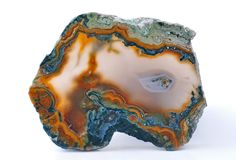 Agate with natural colors Royalty Free Stock Photography