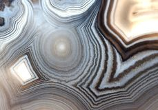 Agate pattern in white black and gray royalty free stock photography