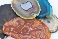 Agate Pieces. Several beautiful Agate pieces in a pile Stock Images