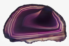 Agate purple of Brazil. Insolated Stock Photo
