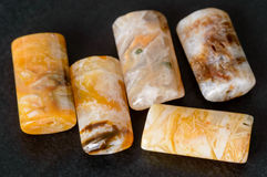 Agate rectangle beads Royalty Free Stock Photo