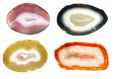 Agate semigem geode crystals Royalty Free Stock Image