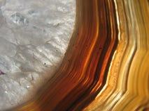 agatean zagłębienia kryształ wypełniający rockowy vug Fotografia Royalty Free