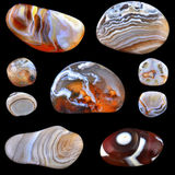 Agates collage Royalty Free Stock Photo