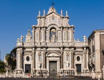 agatha卡塔尼亚大教堂圣诞老人 库存图片