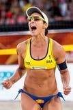 Agatha Bednarczuk-het volleyball van het wereldbekerstrand Royalty-vrije Stock Afbeelding