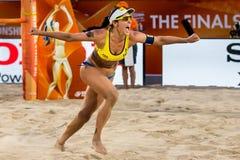 Agatha Bednarczuk pucharu świata plażowa siatkówka Zdjęcia Royalty Free