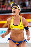 Agatha Bednarczuk world cup beach volleyball Royalty Free Stock Image
