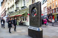 Agatha Christie książki kształtny pomnik Obrazy Stock