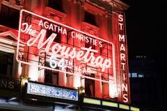 Agatha Christie Mousetrap - legendarny Muzykalny Londyński UK Obraz Stock