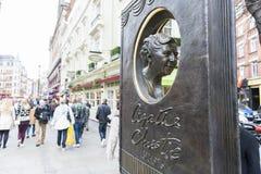 Agatha Christie pomnik Obrazy Stock