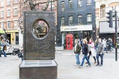 Agatha Christie pomnik Zdjęcie Royalty Free