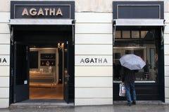Agatha sklep jubilerski Zdjęcie Royalty Free