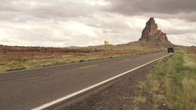 Agathla峰顶或El Capitan在亚利桑那 股票录像