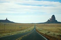 Agathla Peak, Monument Valley, highway in Arizona Royalty Free Stock Images