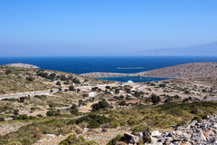 Agathonisi island - panoramic view on aquaculture area - Royalty Free Stock Image