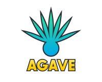 Agave plant element for logo design on white Stock Images