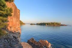 Agawa岩石 免版税库存照片