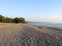 Agawa Bay Beach During Evening Stock Images