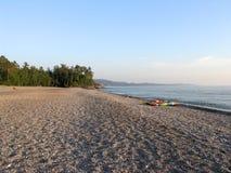 Agawa Bay Beach During Evening. Kayaks at Agawa Bay. Lake Superior Provincial Park, Ontario stock images