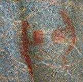 agawaen figures pictographs två Royaltyfri Foto