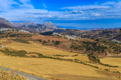 agawy Almeria Andalusia cabo de Gata pustynnych krajobrazowych gór natury blisko parka naturalna roślina hiszpańska Obraz Royalty Free
