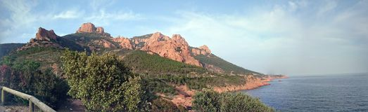 Agay krajobraz Zdjęcie Stock